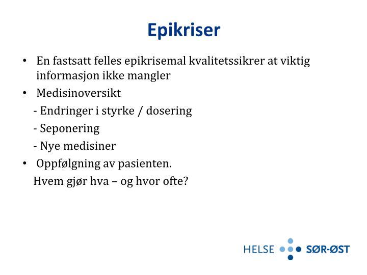 Epikriser