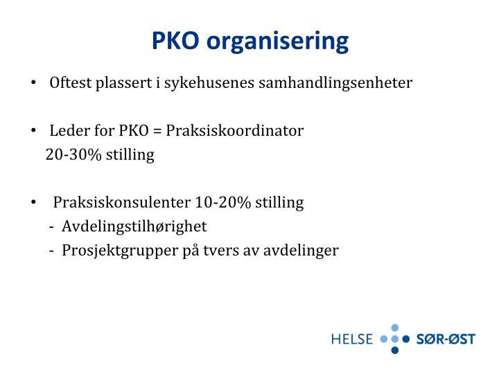 PKO organisering
