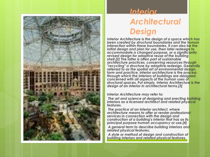 Interior Architectural Design