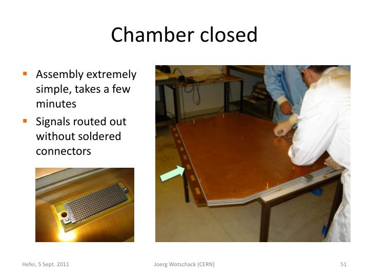 Chamber closed