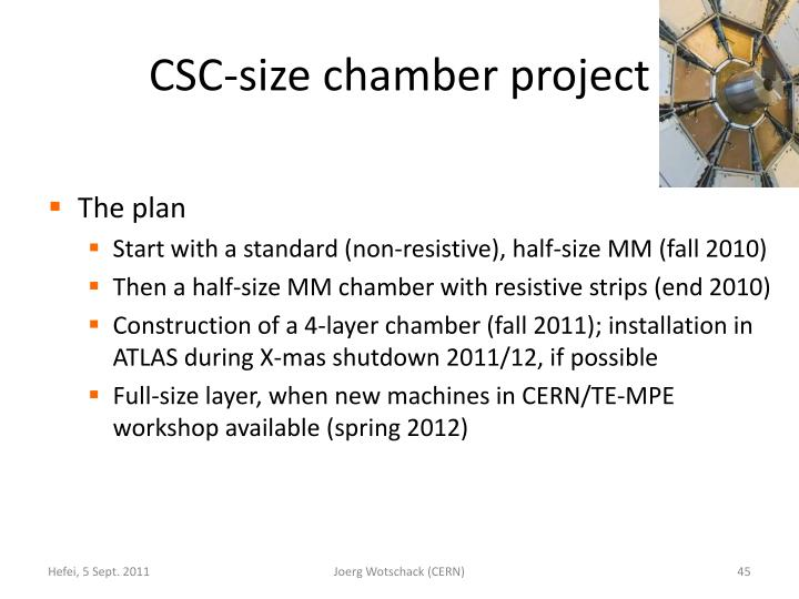 CSC-size chamber project