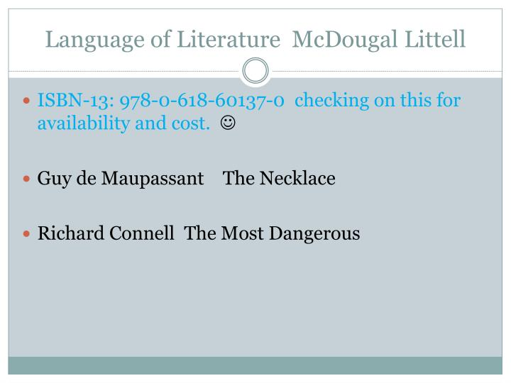Language of Literature  McDougal