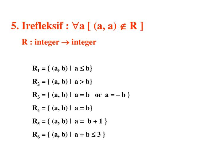 5. Irefleksif :