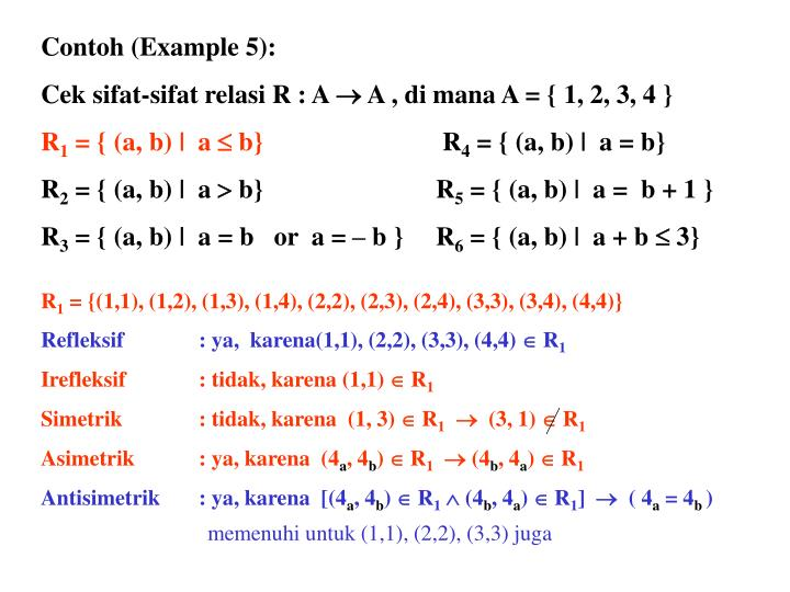 Contoh (Example 5):