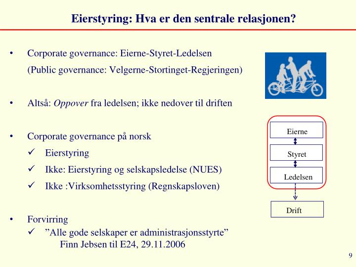 Eierstyring: Hva er den sentrale relasjonen?