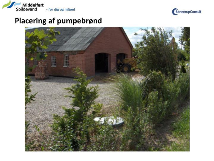Placering af pumpebrønd