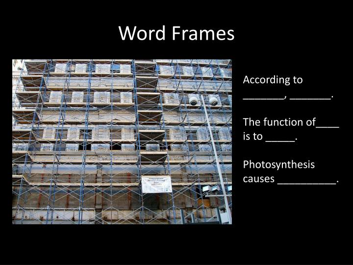 Word Frames