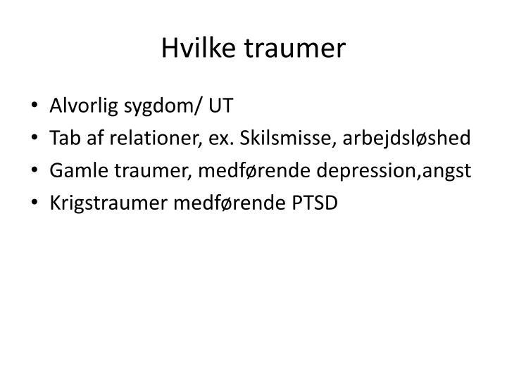 Hvilke traumer