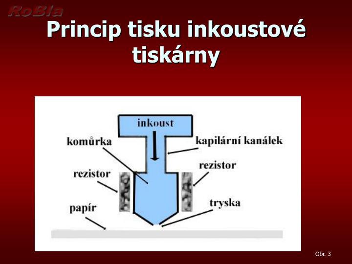 Princip tisku inkoustové tiskárny