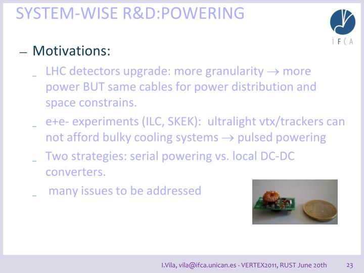 SYSTEM-WISE R&D: