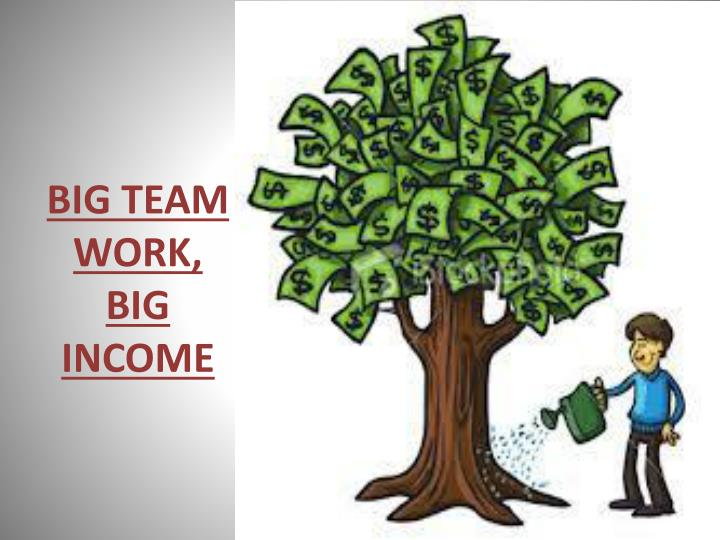 BIG TEAM WORK, BIG INCOME