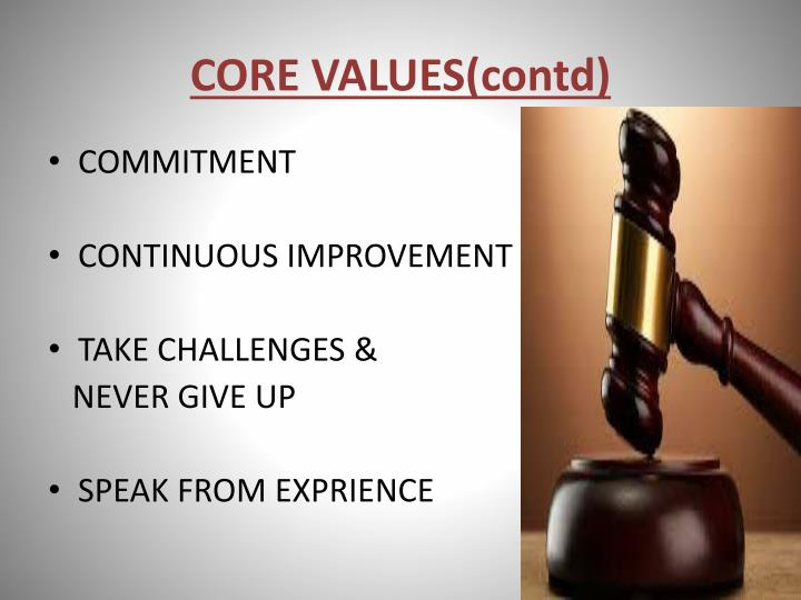 CORE VALUES(