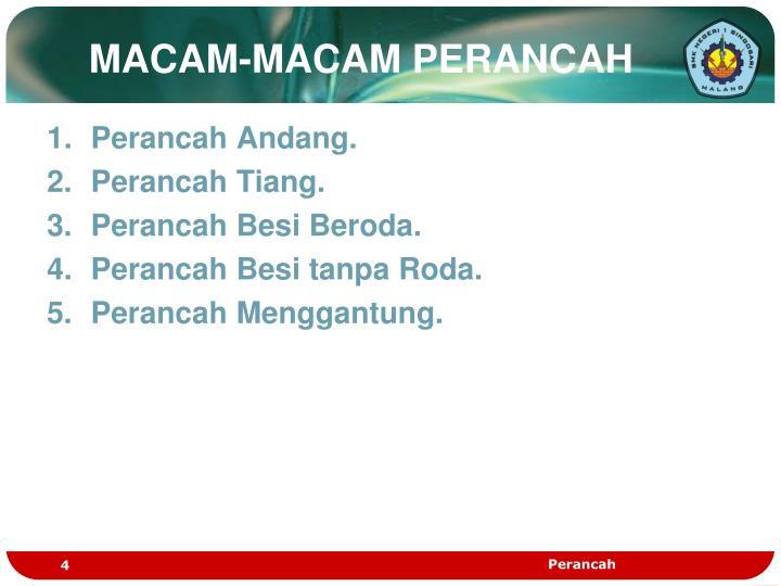 MACAM-MACAM PERANCAH