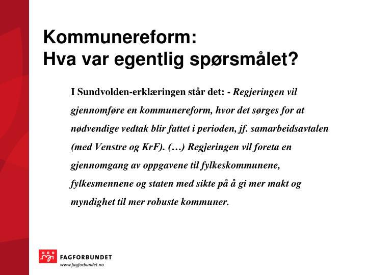 Kommunereform: