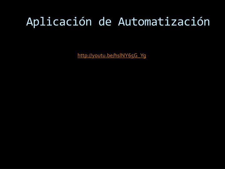 Aplicación de Automatización