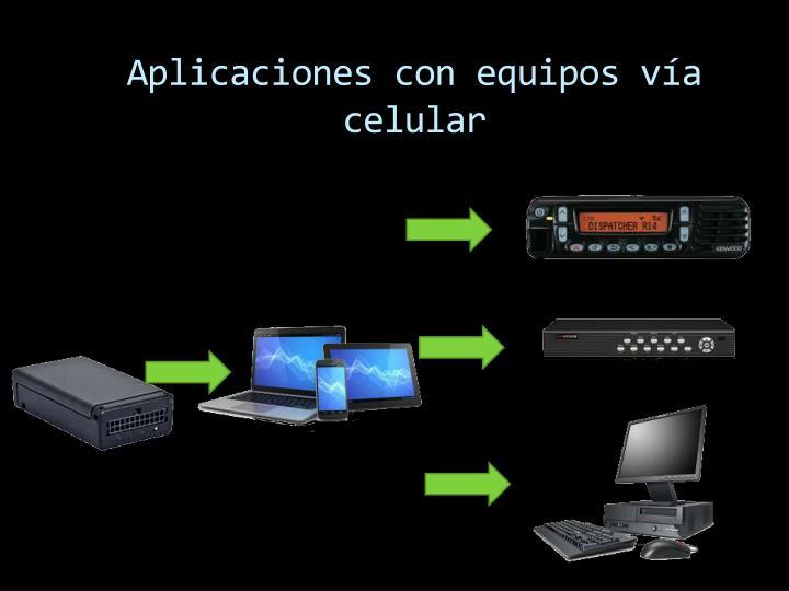 Aplicaciones con equipos vía celular