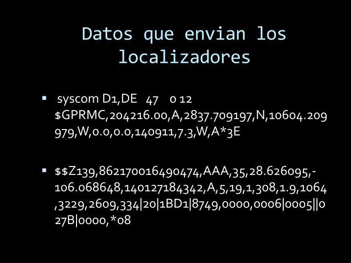 Datos que