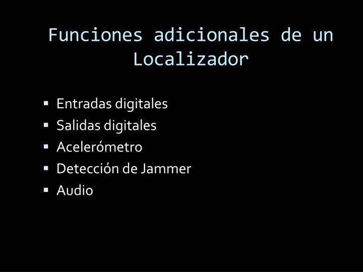 Funciones adicionales de un Localizador