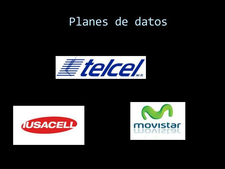 Planes de datos