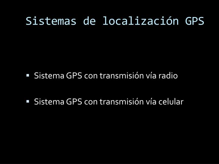 Sistemas de localización GPS