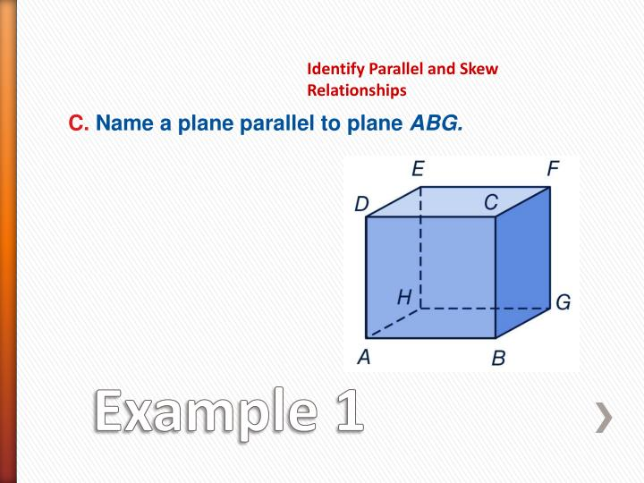 Identify Parallel and Skew Relationships