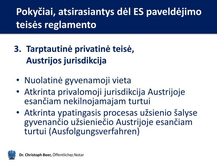 Pokyčiai, atsirasiantys dėl ES paveldėjimo teisės reglamento