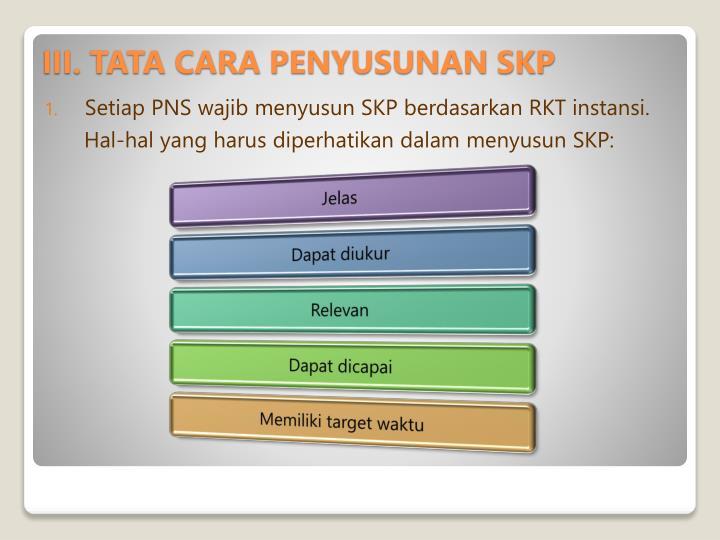 Setiap PNS wajib menyusun SKP berdasarkan RKT instansi.