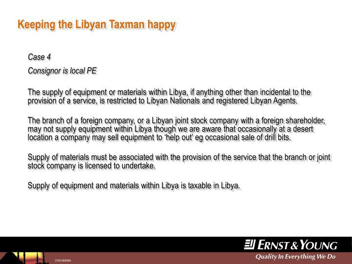 Keeping the Libyan Taxman happy