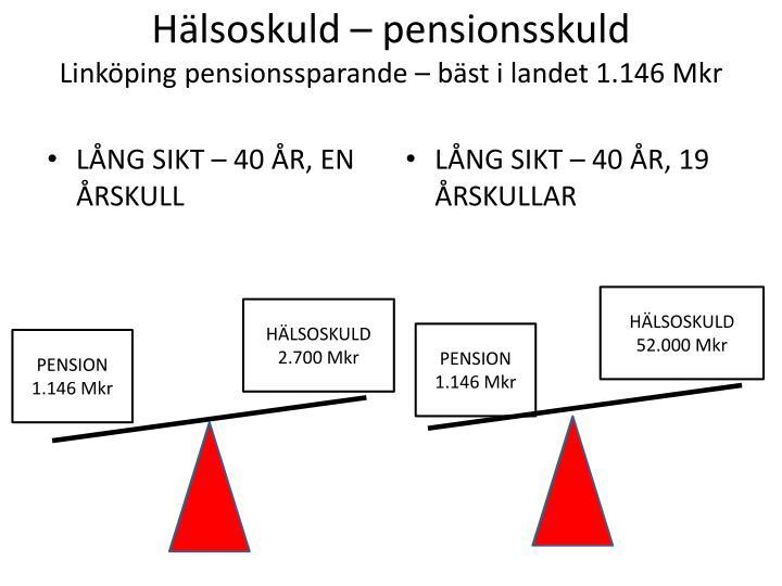 Hälsoskuld – pensionsskuld