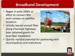 broadband development