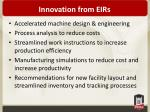 innovation from eirs