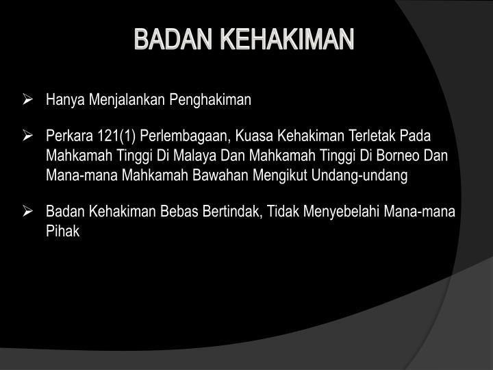 BADAN KEHAKIMAN