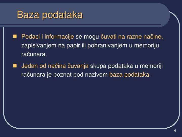 Baza podataka
