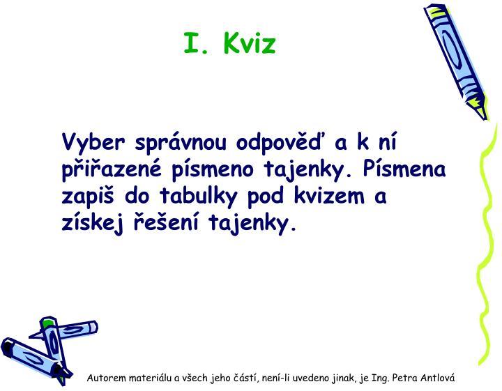 I. Kviz