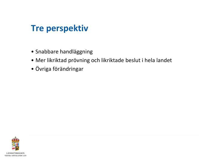 Tre perspektiv