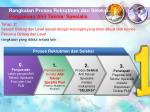 rangkaian proses rekrutmen dan seleksi pengakuan ahli teknis spesialis1