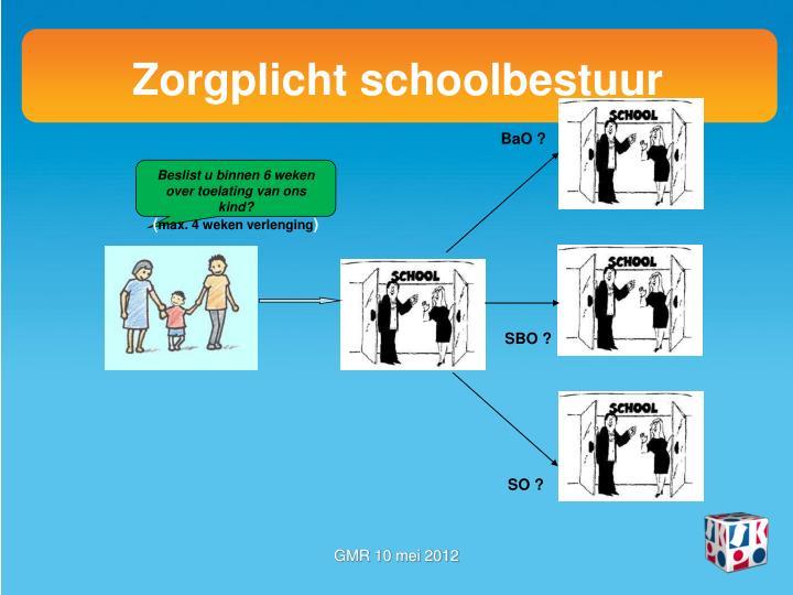 Zorgplicht schoolbestuur