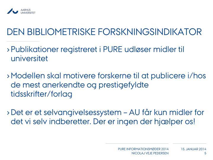 Den bibliometriske forskningsindikator