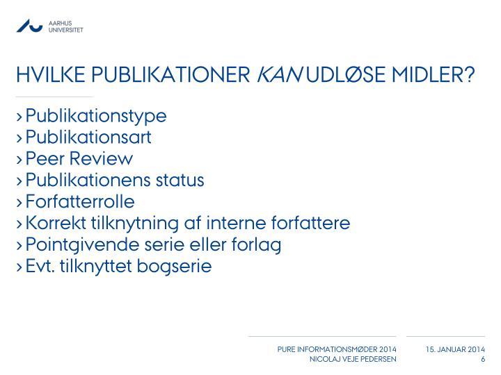 Hvilke publikationer