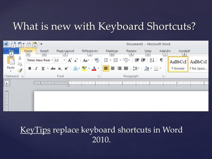 What is new with Keyboard Shortcuts?