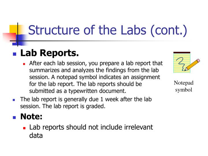 Structure of the Labs (cont.)