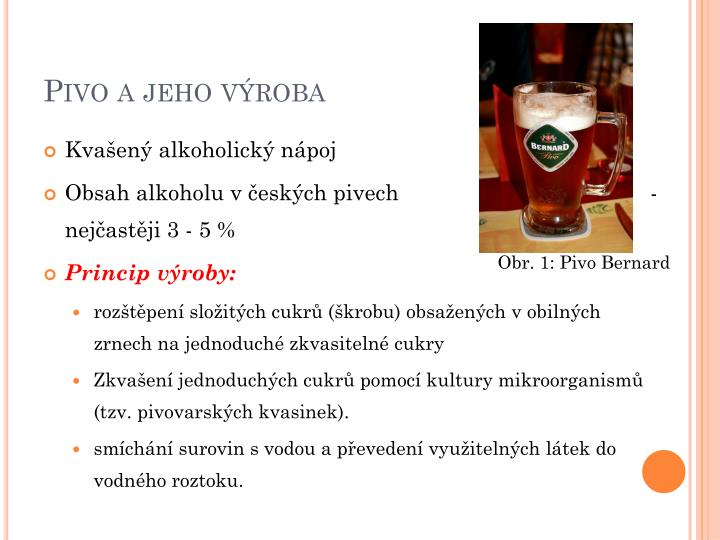 Pivo a jeho výroba