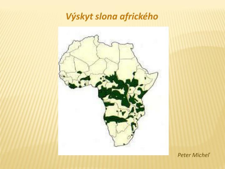 Výskyt slona afrického
