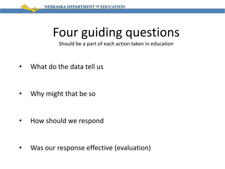 Four guiding questions