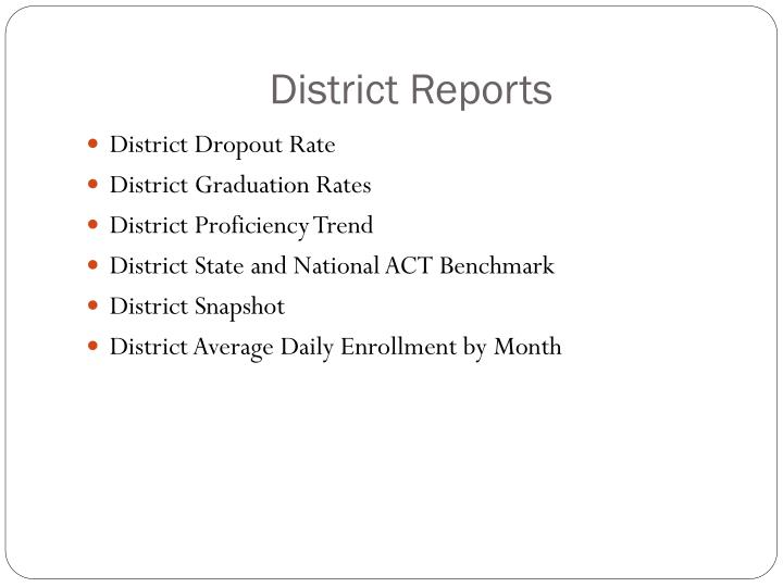 District Reports