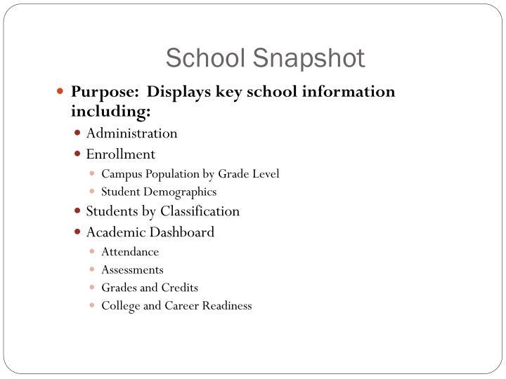 School Snapshot