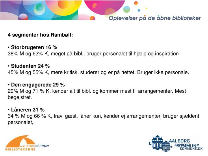 4 segmenter hos Rambøll:
