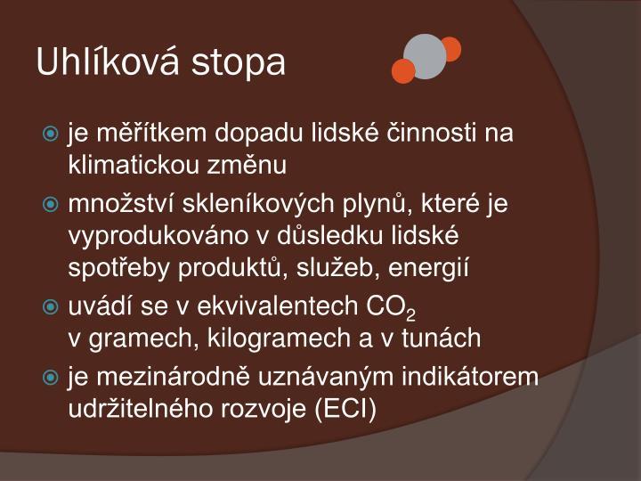 Uhlíková stopa