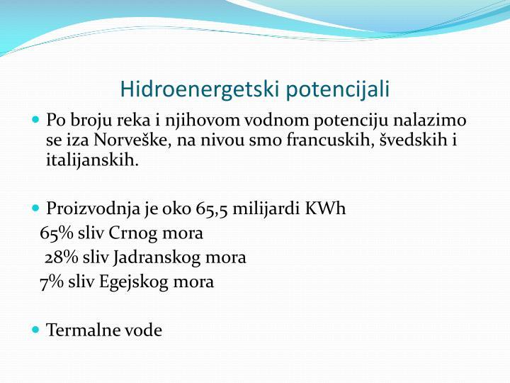 Hidroenergetski