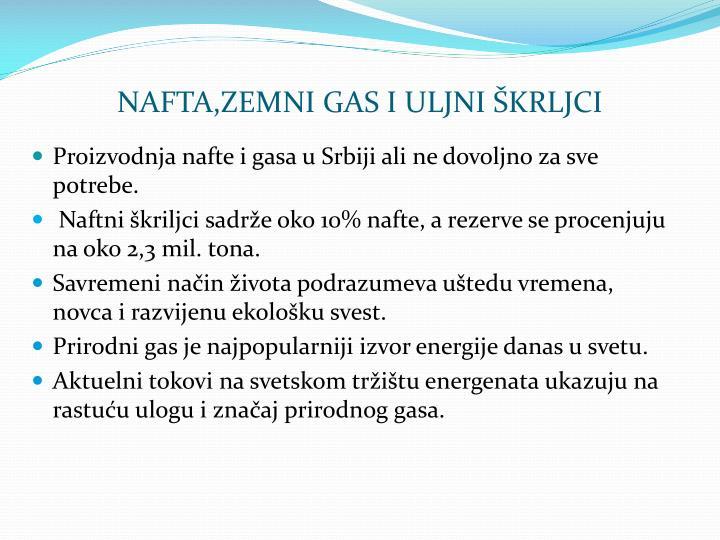 NAFTA,ZEMNI GAS I